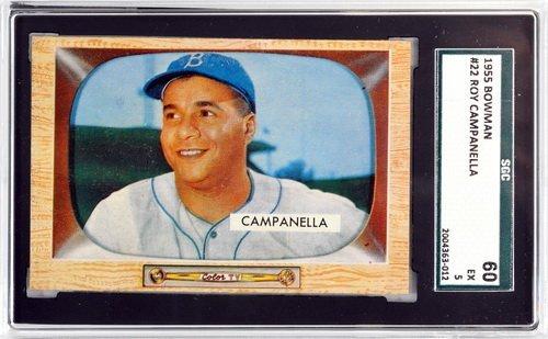 1955 Bowman Roy Campanella Sgc 60 Ex 5