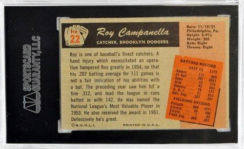 1955 Bowman Roy Campanella Sgc 60 Ex 5 - 2