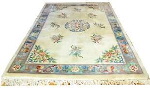Floral Vintage Wool Rug