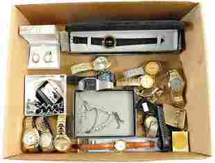 Three Boxes of Costume Jewelry/Watches
