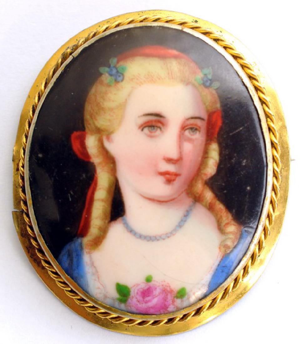 Hand Painted Cameo Brooches