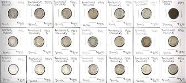 Coin Collection To Include 29 Dimes From
