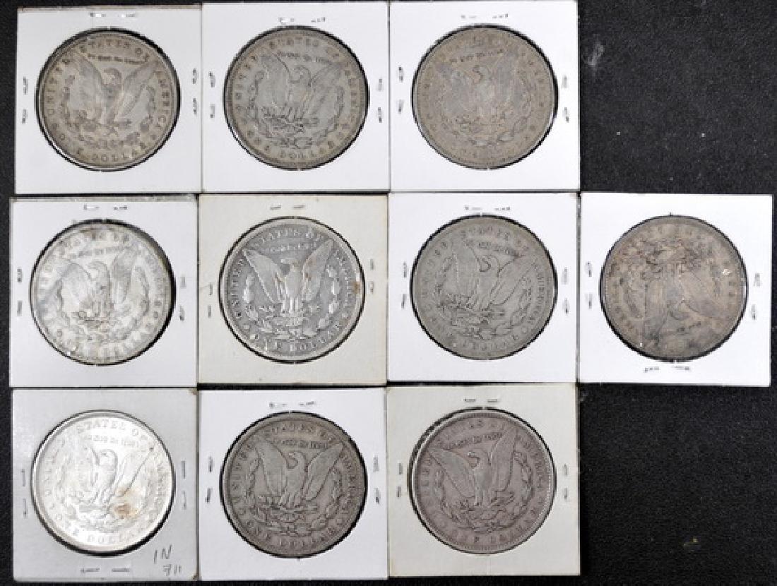 10 Morgan Silver Dollars