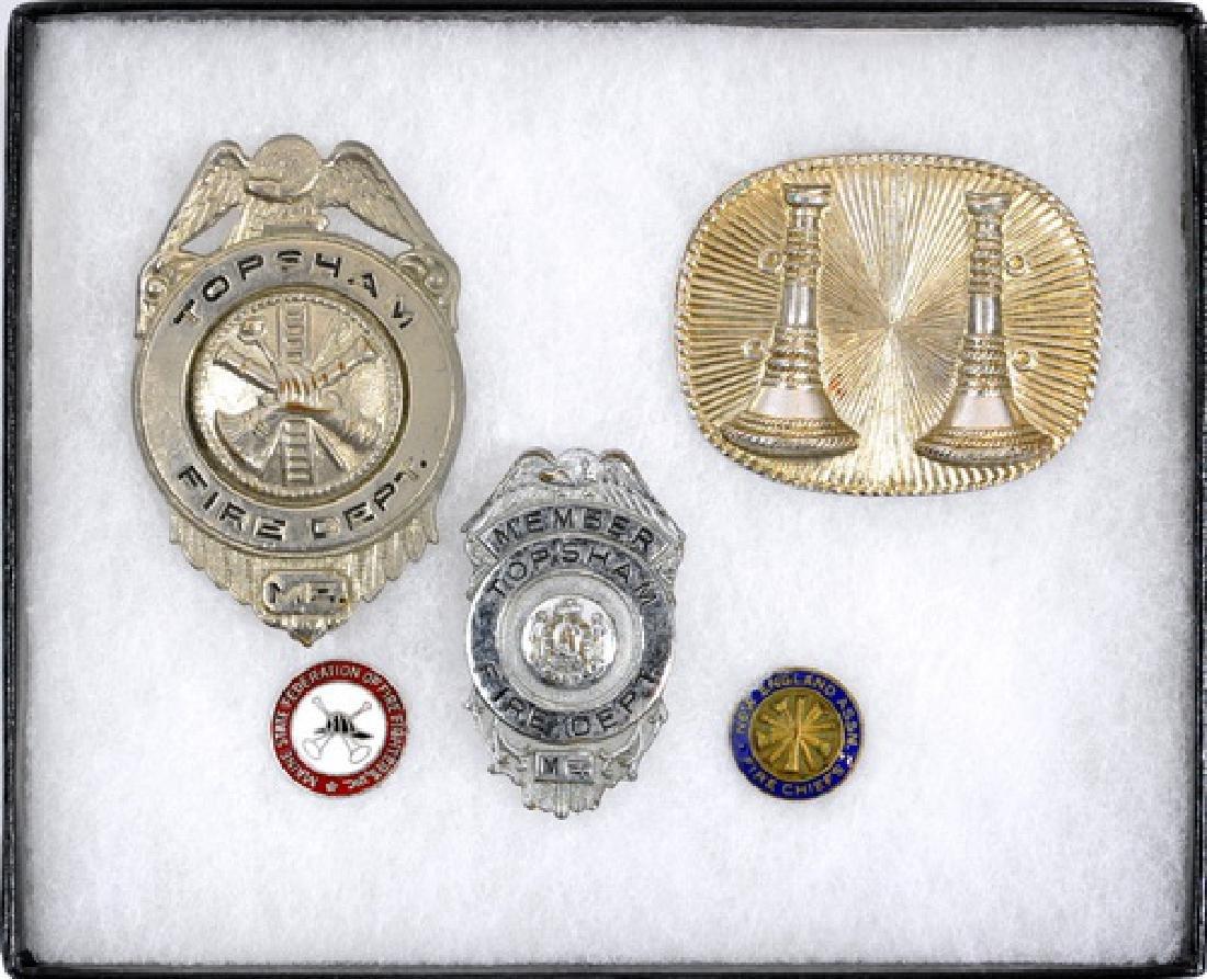 6 Piece Topsham Maine Fire Department Badges