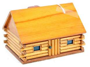 Vintage Maine State Prison Folk Art Jewelry Box