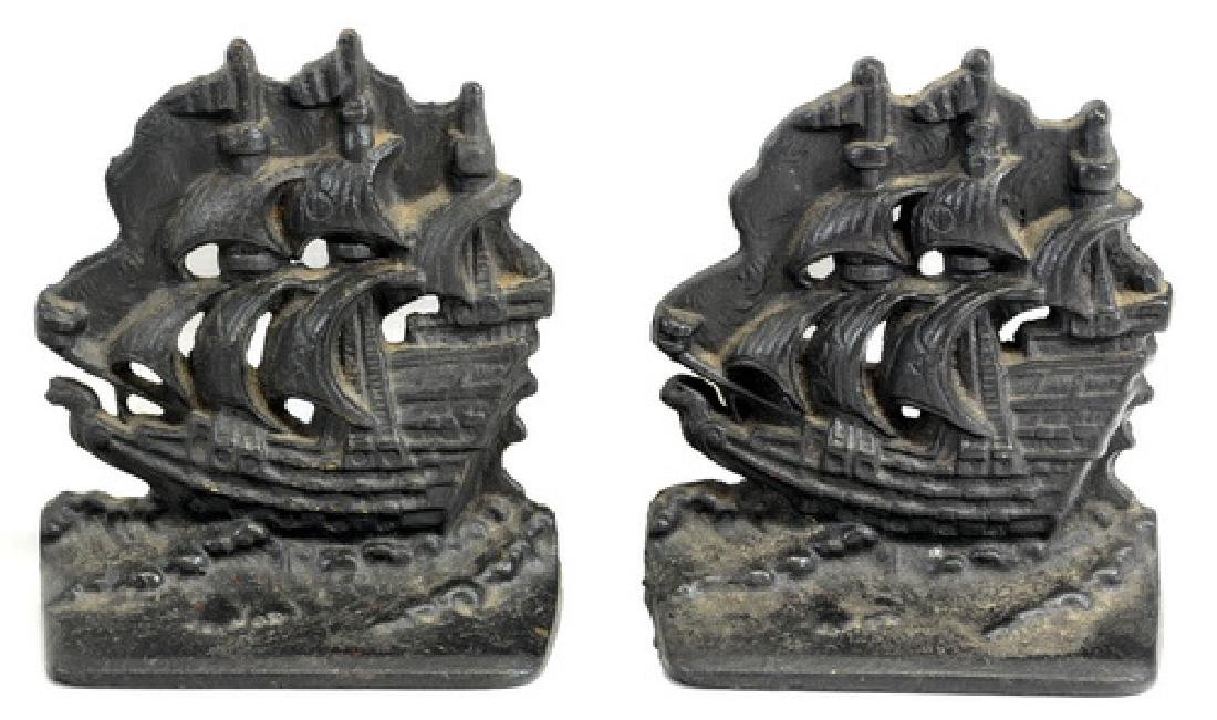Four Pairs of Antique Cast Iron Bookends
