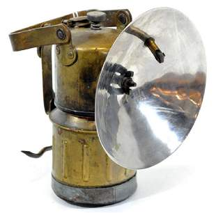 Antique All Brass Miners Carbide Lamp