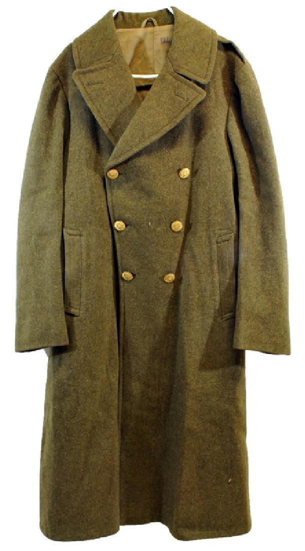 WWII Heavy OD Wool Overcoat