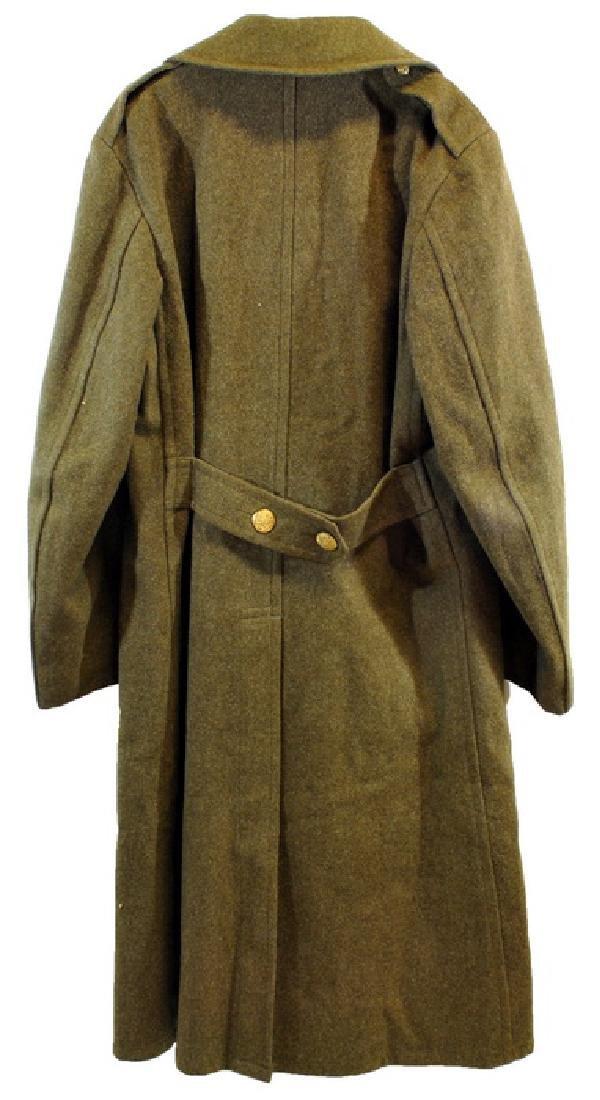 WWII Heavy OD Wool Overcoat - 2