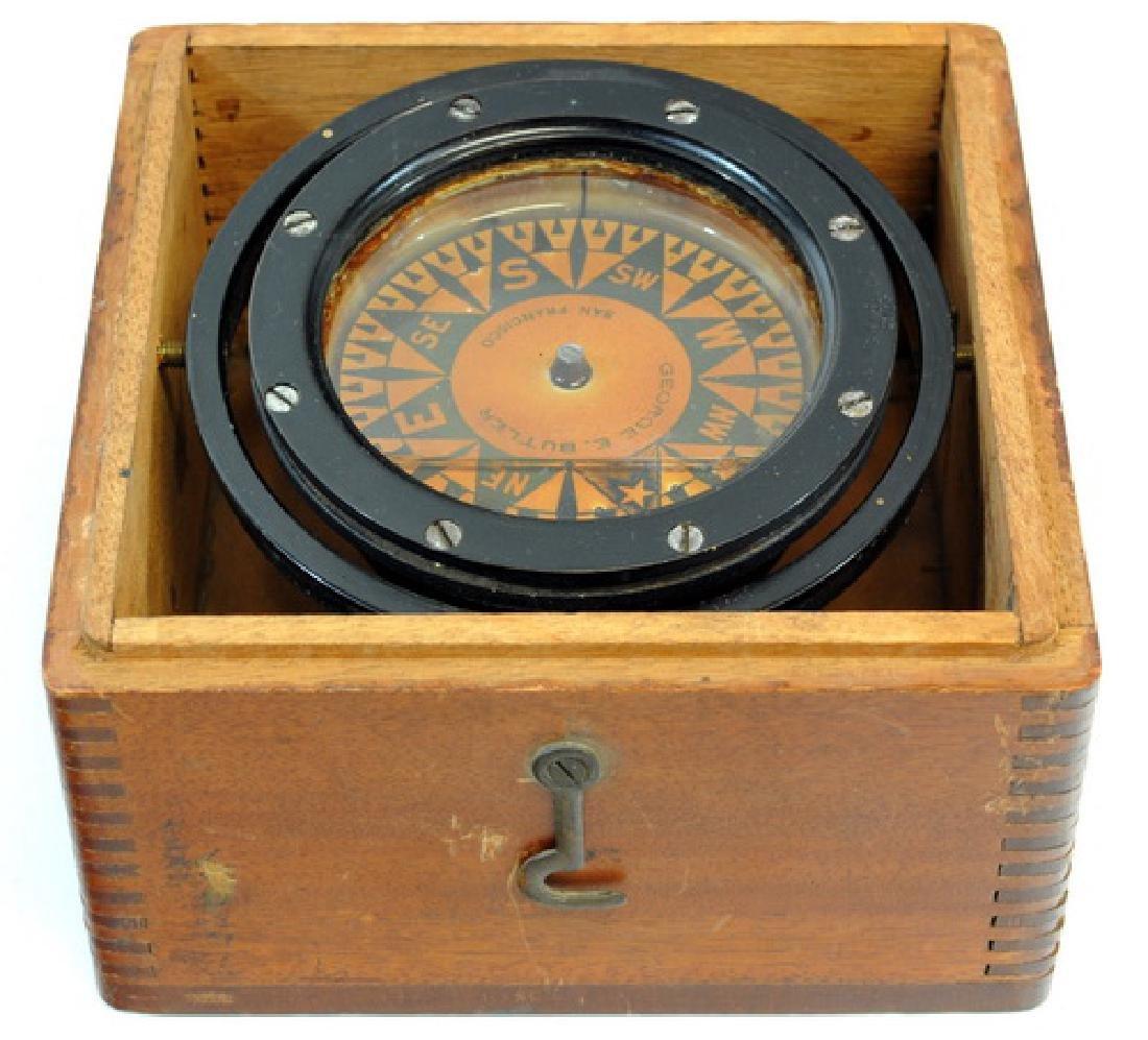 Vintage Box Compass Star Boston
