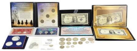 Coin Collection Containing Us Silver Coins