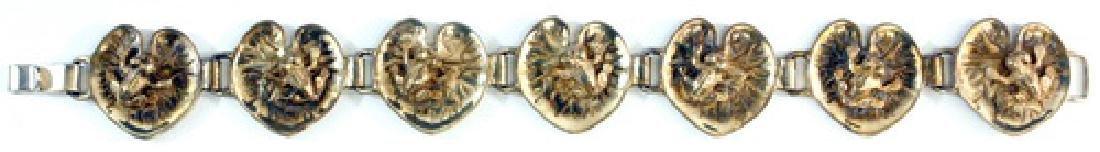 """Vintage Sterling Silver Bracelets 8"""" Long"""