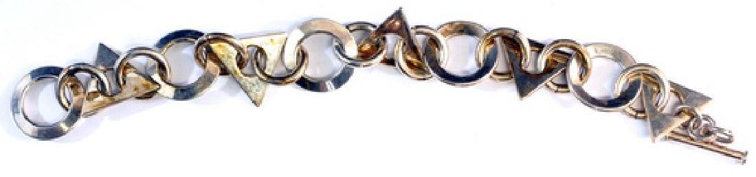 """Vintage Sterling Silver Bracelets 8"""" Long - 3"""