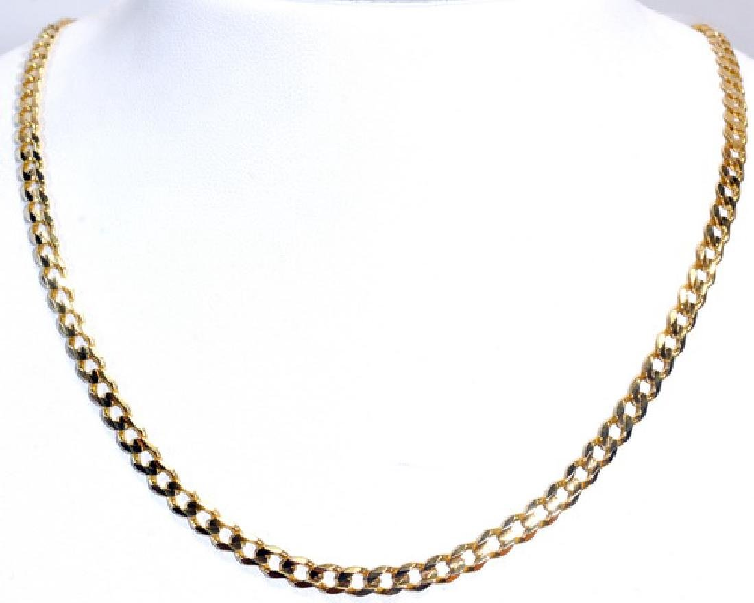 "14k Yellow Gold Cuban Link 19.5""  14.6 Grams"