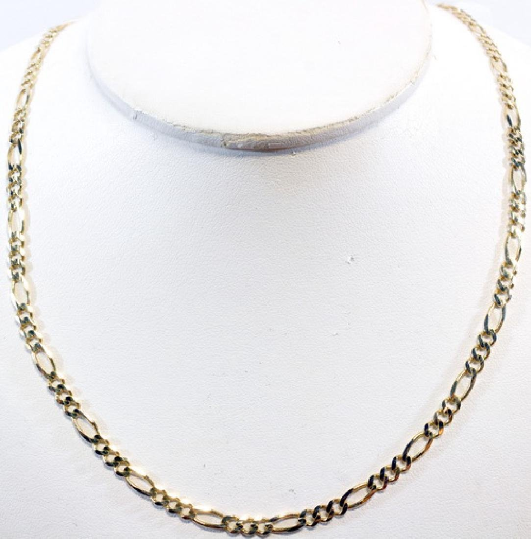 "10k Yellow Gold Figaro 24"" Necklace 4.2mm Wide"