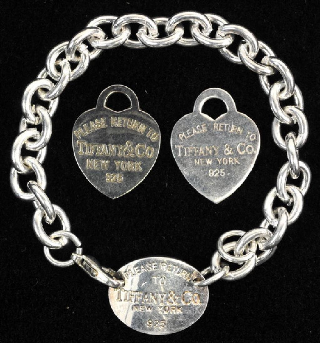 Three Tiffany And Company Sterling Jewelry Pieces