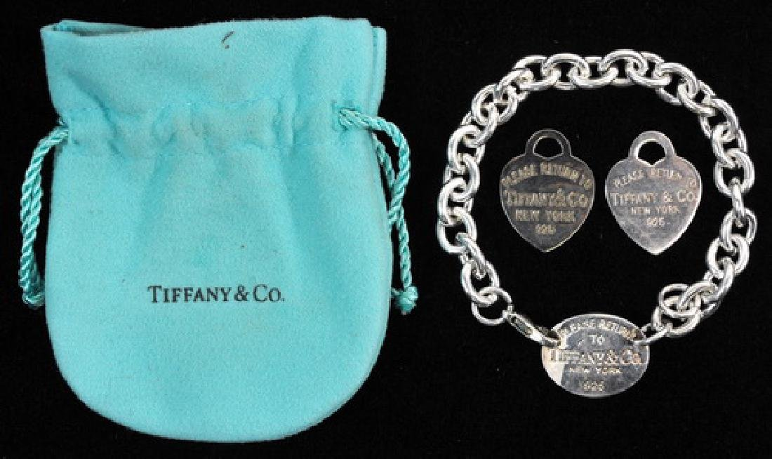 Three Tiffany And Company Sterling Jewelry Pieces - 2