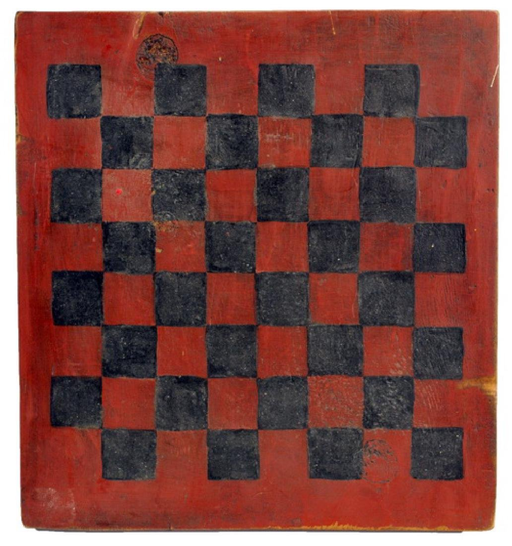 Antique Hand Painted Game Board