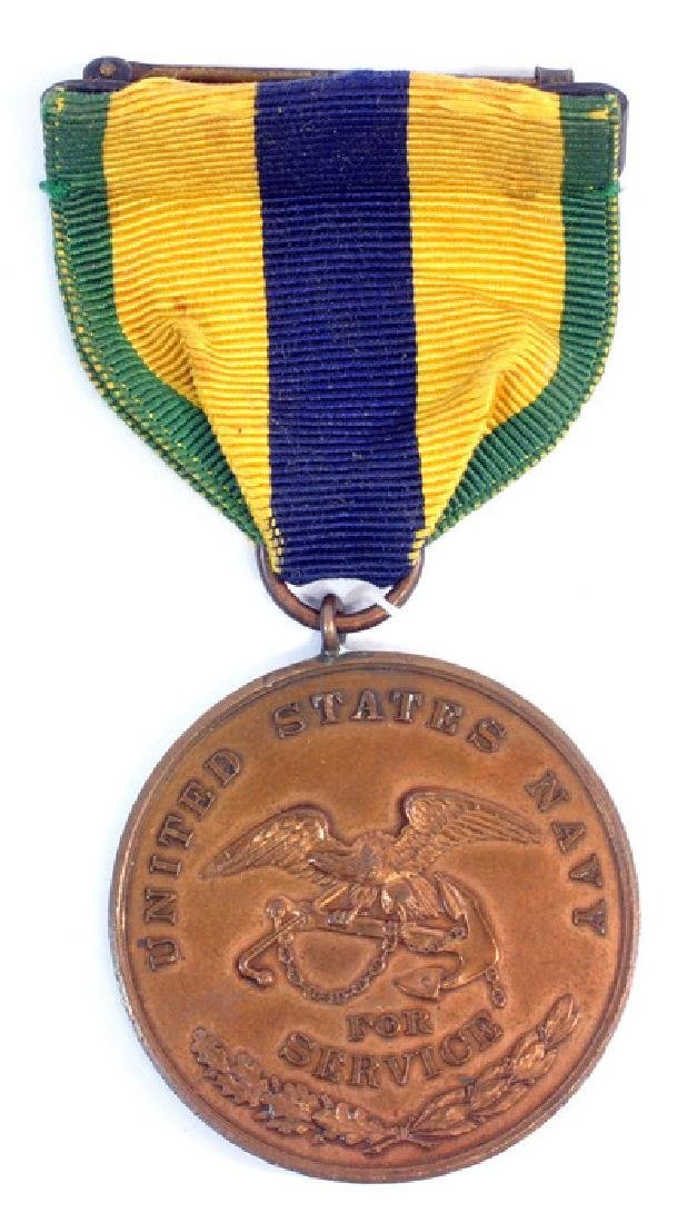 Original 1911-1917 Us Navy Mexico Service Medal