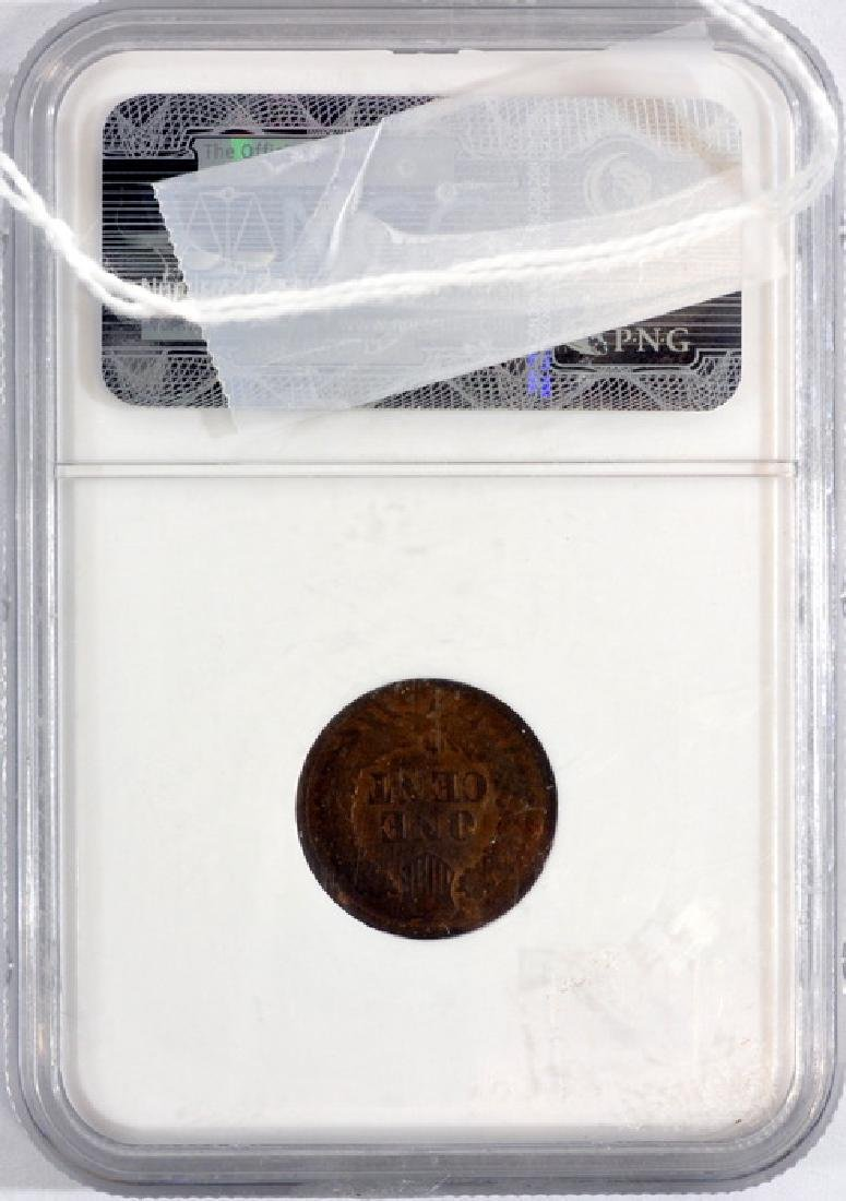 1877 Us Indian Head Cent Graded By Ngc G 4 Bn - 2