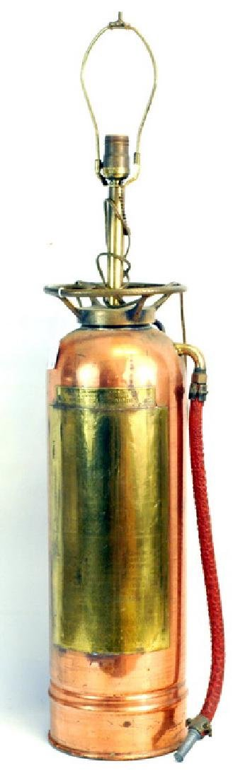 Vintage Patrol Copper Fire Extinguisher Table lam