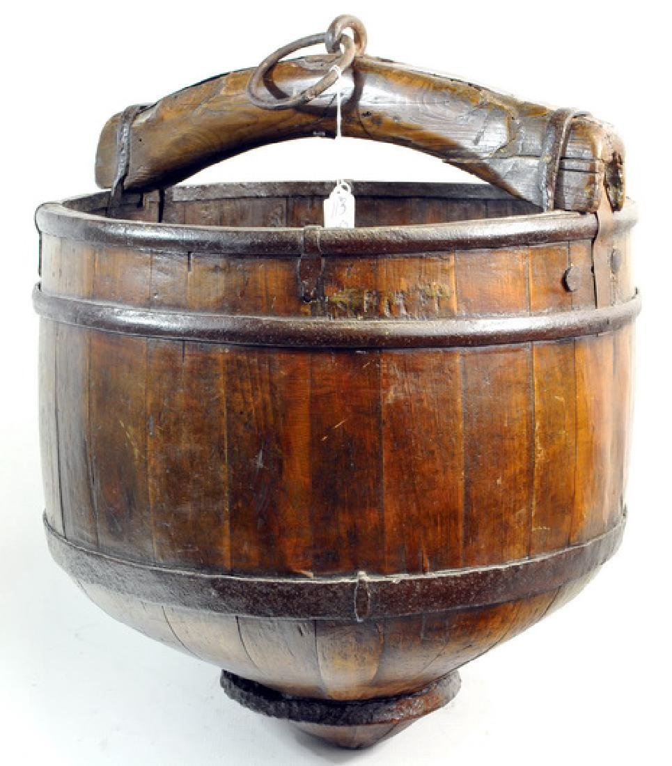 Antique Chinese Well Bucket And Catch Bucket