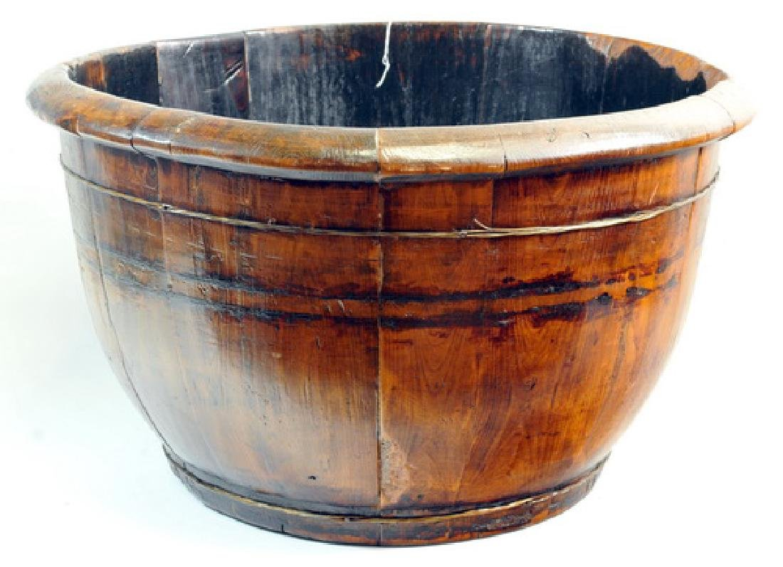 Antique Chinese Well Bucket And Catch Bucket - 3