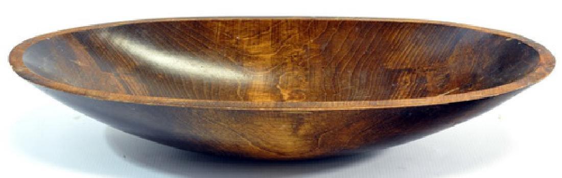 4 Vintage Wooden Bowls - 2