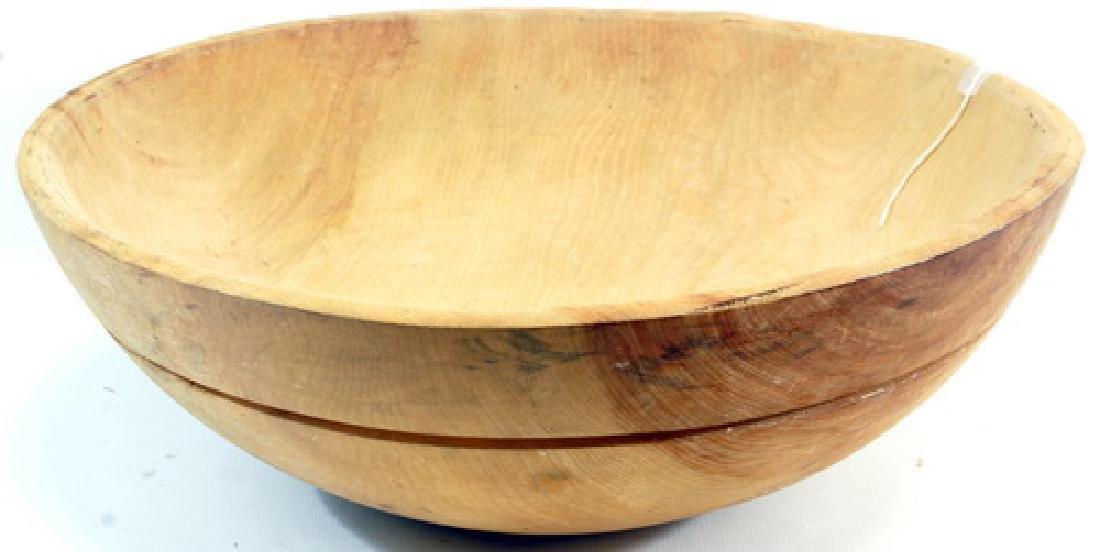 4 Vintage Wooden Bowls - 3