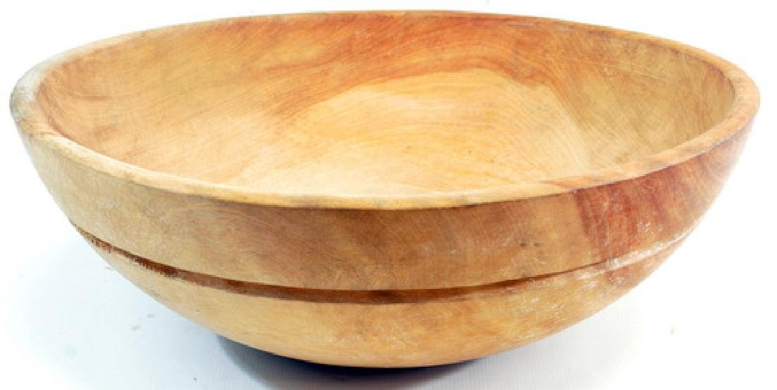 4 Vintage Wooden Bowls - 4