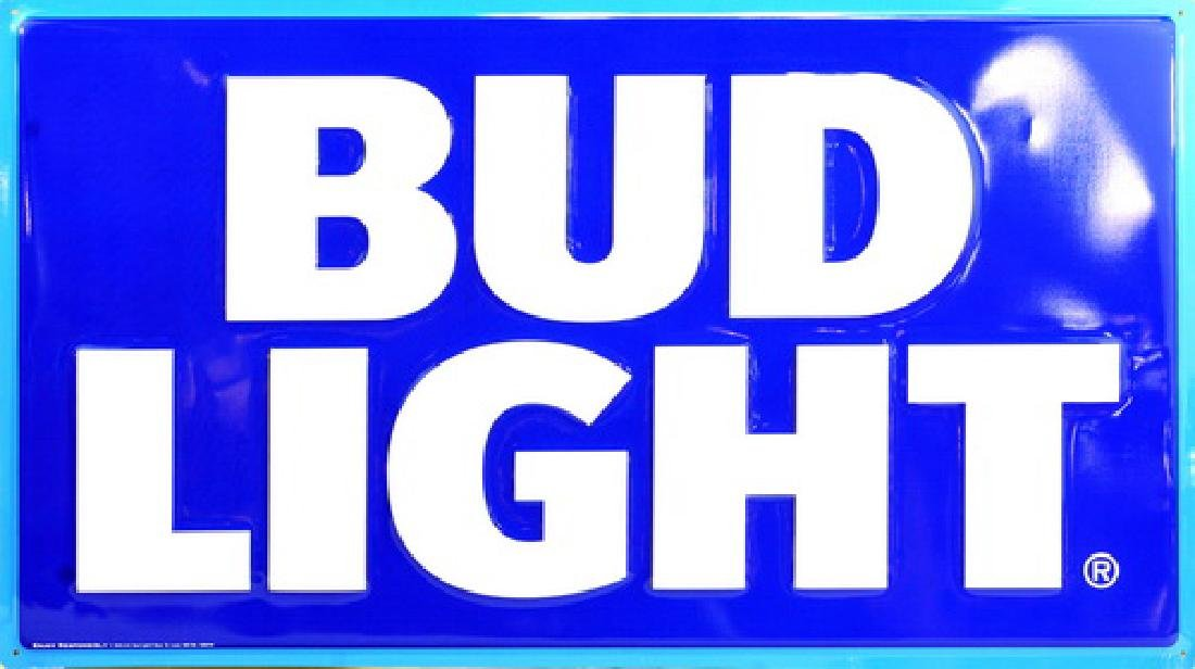 4 Metal Bud Light Signs Never Opened Until Now