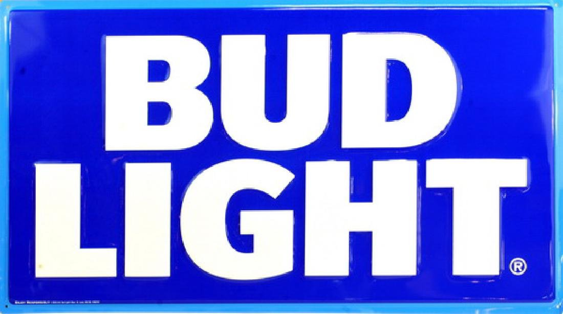 4 Metal Bud Light Signs Never Opened Until Now - 4