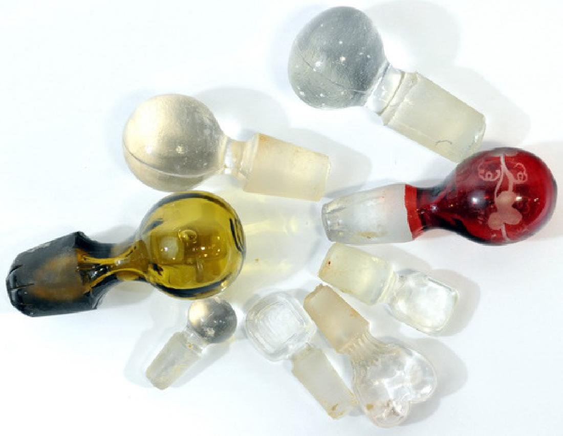 Collectibles, Glass Stoppers, Rulers/RCA Needles - 2