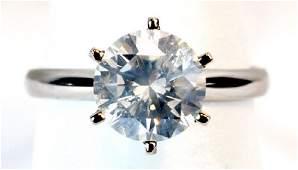 2 Ct. Round Ladies Diamond Solitaire Ring