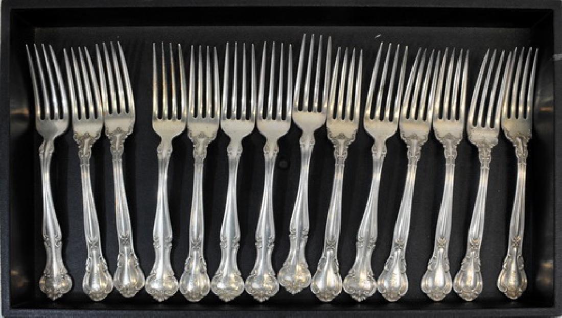 14 Sterling Silver Dinner Forks  24.35 Ozt