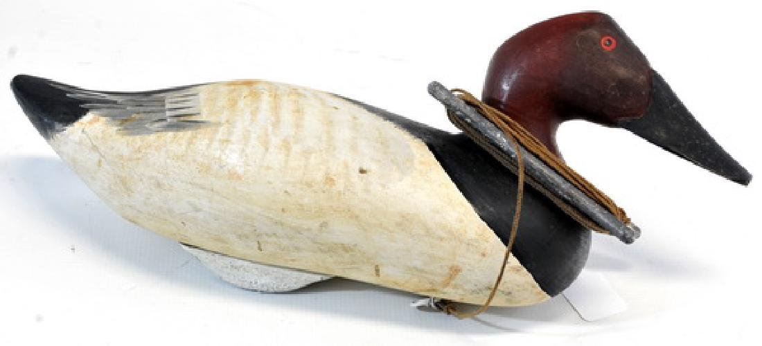 1 Vintage Maine Working Decoy With Lead Weight,