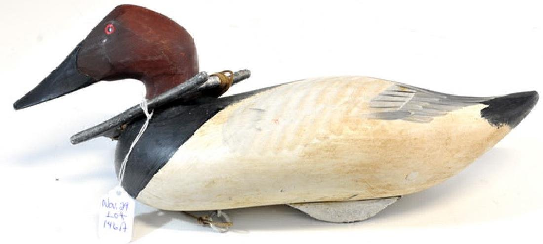 1 Vintage Maine Working Decoy With Lead Weight, - 2