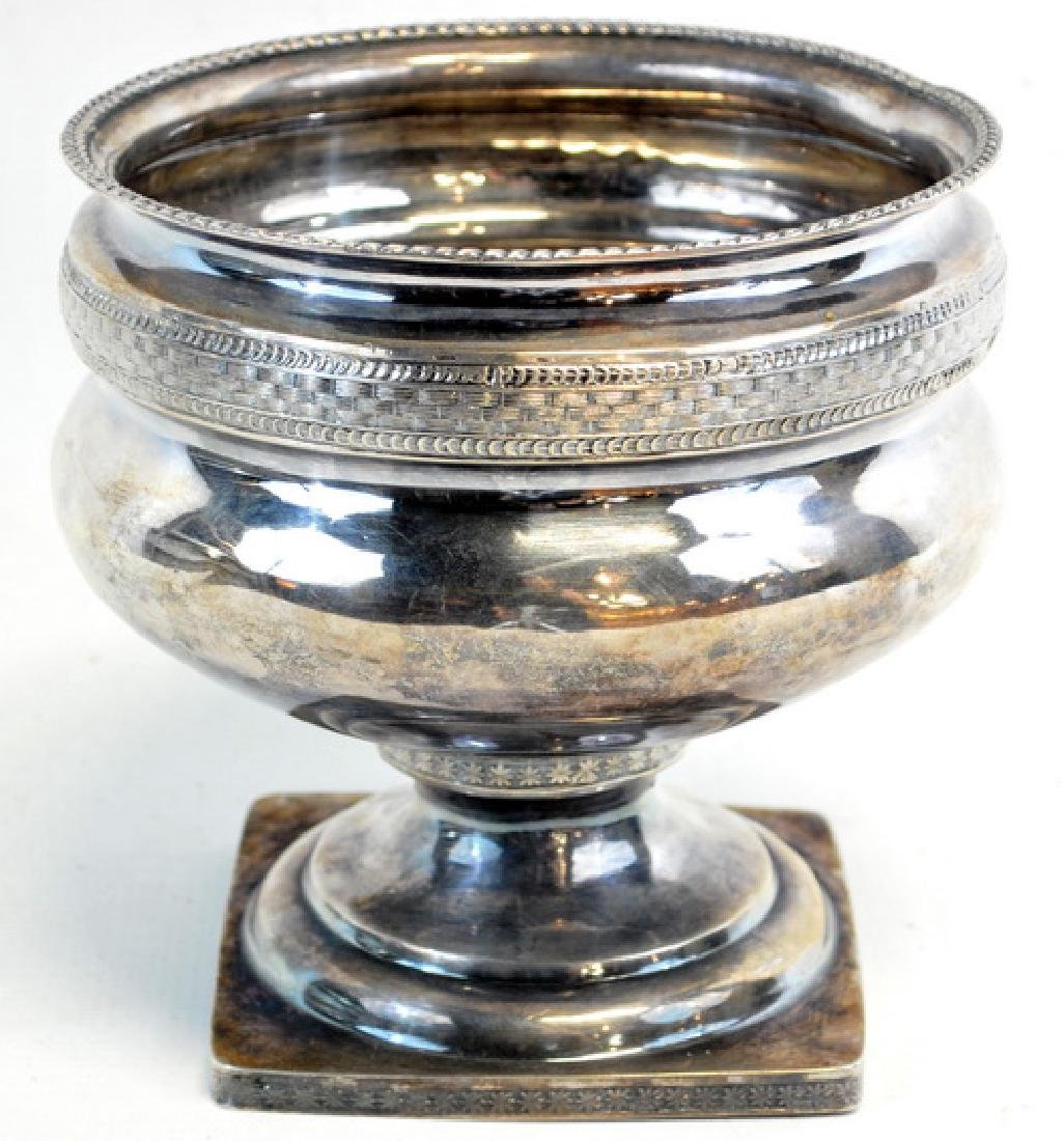 Antique Circa 1819 Silver Plate Urn