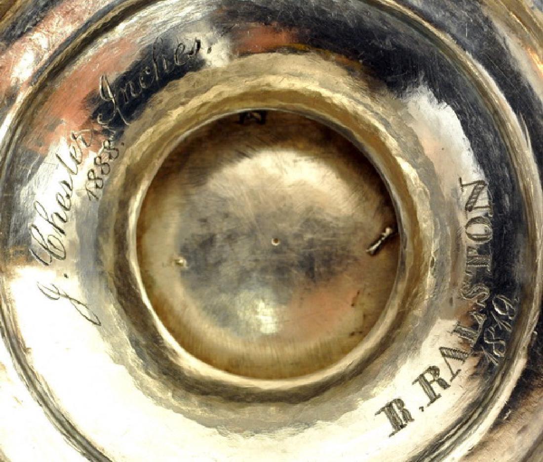 Antique Circa 1819 Silver Plate Urn - 2