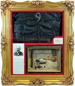 Rare 9th Maine Civil War Pow Framed Items