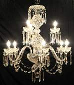 Elegant Vintage Waterford Crystal Chandelier