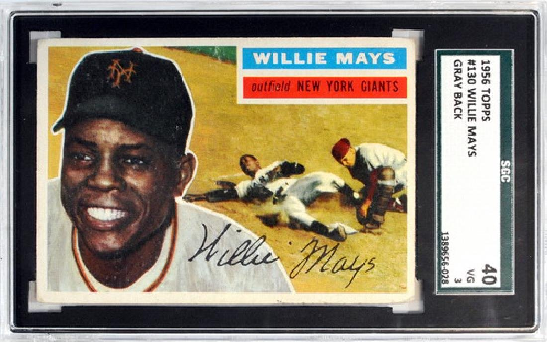 1956 Topps Willie Mays Gray Back