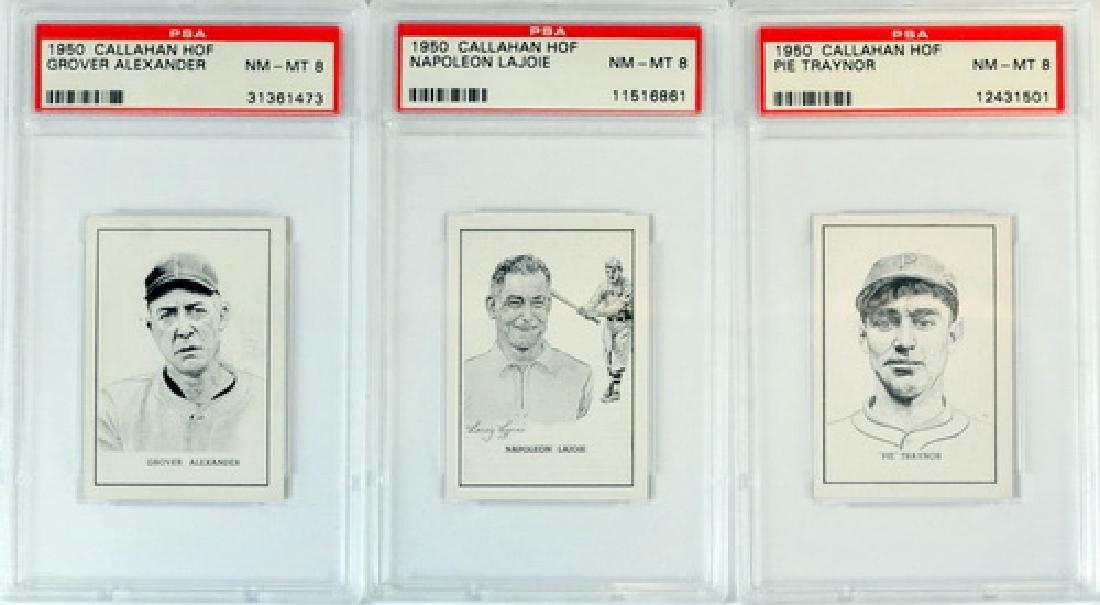 Three 1950 Callahan Graded Hof Players