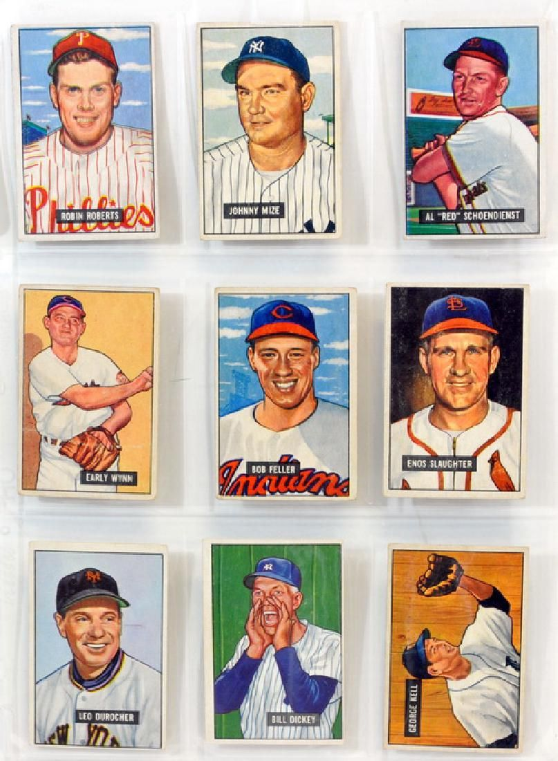 9 1951 Bowman Baseball Hall Of Famers