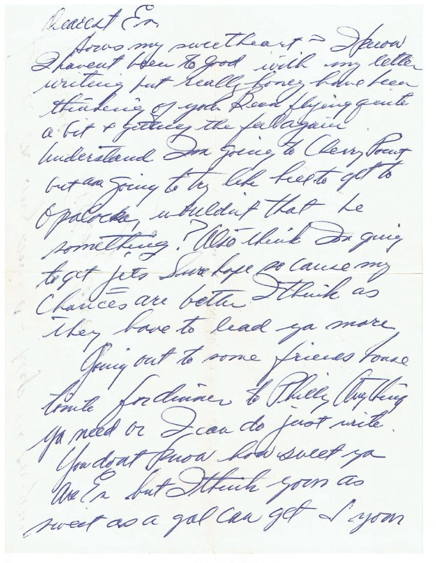 May 22 1952 Letter Written By Ted Williams