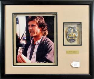 Mel Gibson Lethal Weapon Framed Police Badge