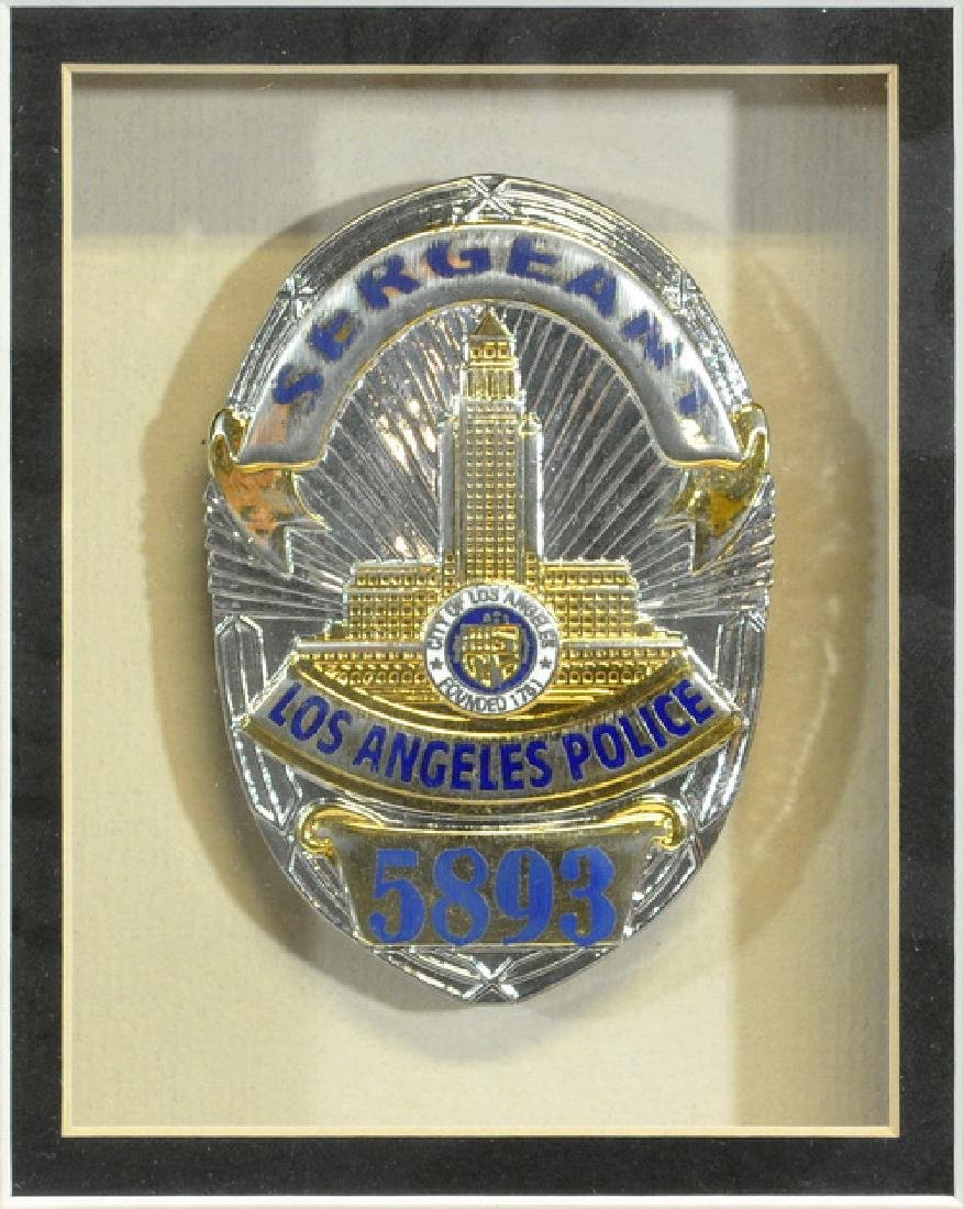 Mel Gibson Lethal Weapon Framed Police Badge - 2