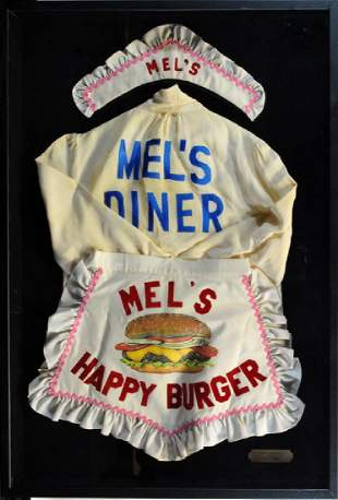 Mel's Diner Tv Show Prop Waitress Uniform