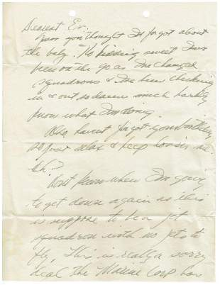 August 7 1952 Letter Written By Ted Williams