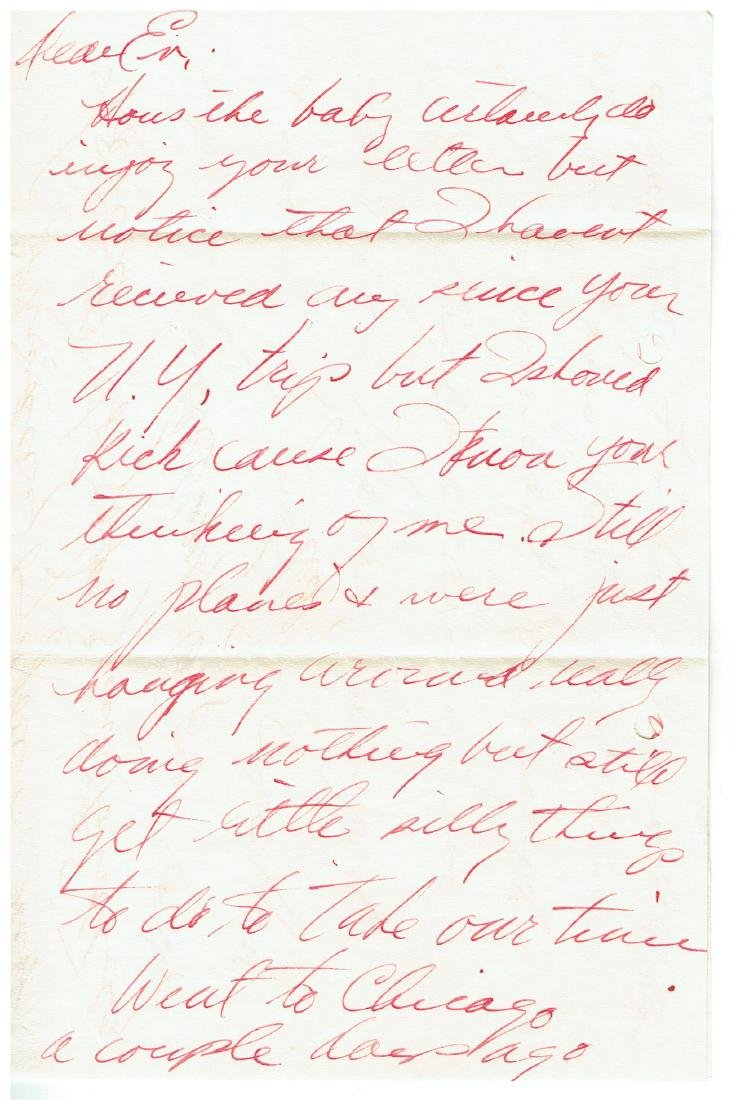 August 18 1952 Letter Written By Ted Williams